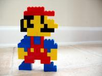Photo de personnage mario en lego