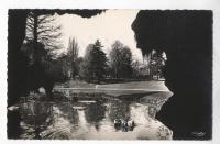 photo du parc Barbieux en noir et blanc