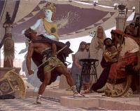 scène mythologique mettant en scène Achille