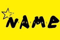 Logo du Name Festival sur fond jaune