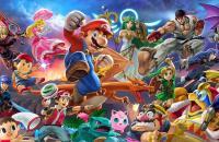 personnages du jeu smash bros ultimate avec Mario en premier plan