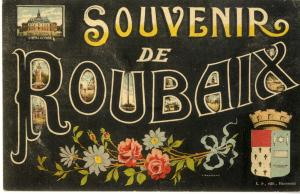 carte postale souvenirs de Roubaix