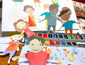 dessins d'enfants peints à l'aquarelle